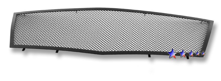 Cadillac CTS  2008-2012 Black Powder Coated Main Upper Black Wire Mesh Grille