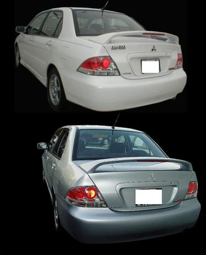 Mitsubishi Lancer Rally Art  2004-2007 Factory Style Rear Spoiler - Primed