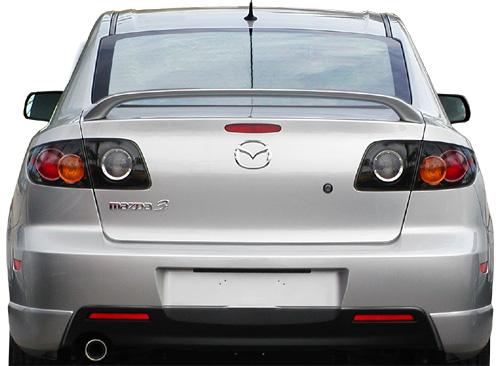 Mazda Mazda3 4DR  2003-2009 Factory Style Rear Spoiler - Primed