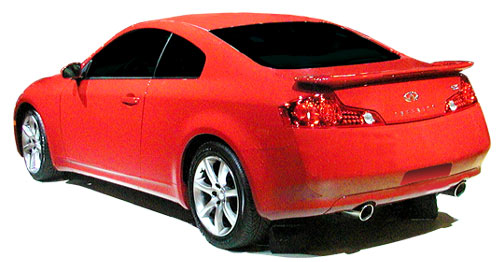 Infiniti G35 2DR  2003-2005 Factory Style Rear Spoiler - Painted