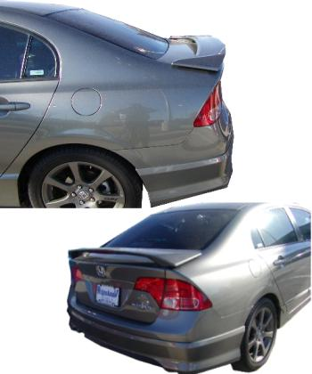 Honda Civic 4DR  2006-2010 Factory Style Rear Spoiler - Primed