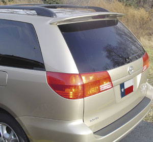 Toyota Sienna   2004-2010 Factory Style Rear Spoiler - Primed