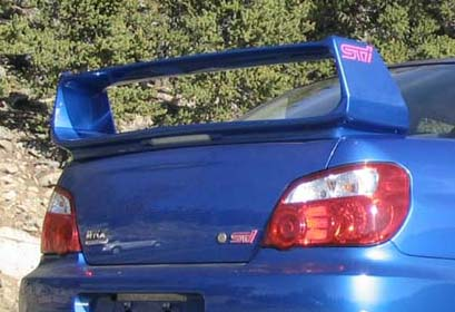Subaru Impreza   2002-2007 Factory Style Rear Spoiler - Painted