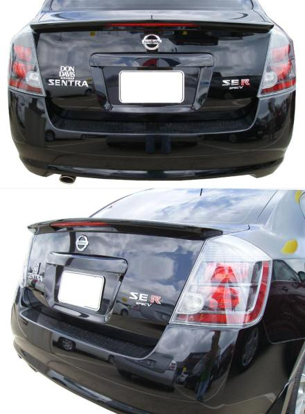 Nissan Sentra   2007-2010 Factory Style Rear Spoiler - Primed