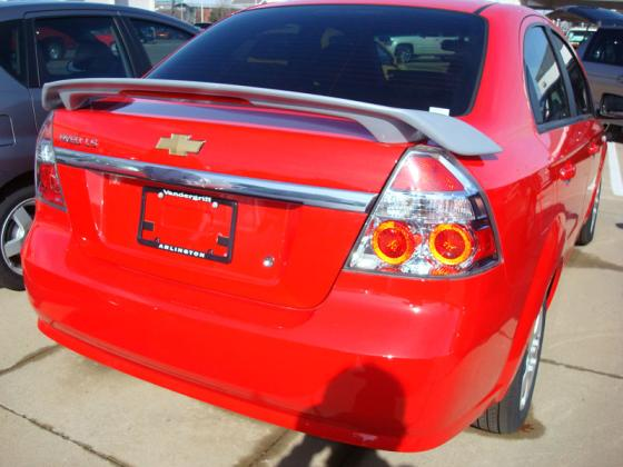 Chevrolet Aveo   2007-2008 Custom Style Rear Spoiler - Painted