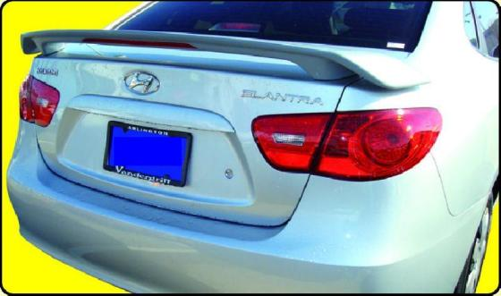 Hyundai Elantra   2007-2008 Custom Style Rear Spoiler - Primed
