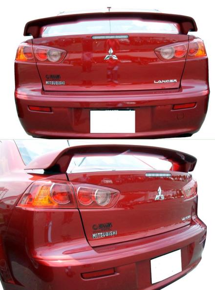 Mitsubishi Lancer   2008-2011 OEM  Factory Style Rear Spoiler - Primed