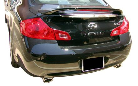 Infiniti G35 4DR  2007-2008 Factory Style Rear Spoiler - Painted