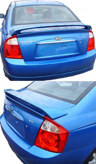 Kia Spectra 4DR  2005-2009 Factory Style Rear Spoiler - Primed