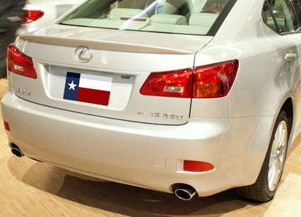 Lexus IS300   2006-2010 Lip Style Rear Spoiler - Painted