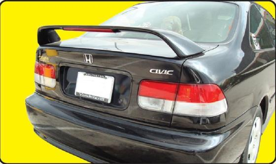 Honda Civic 2DR Si 1996-2000 Factory Style Rear Spoiler - Primed