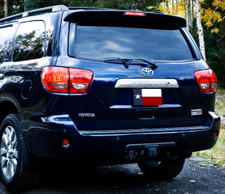 Toyota  Sequoia   2006-2010 Factory Style Rear Spoiler - Primed
