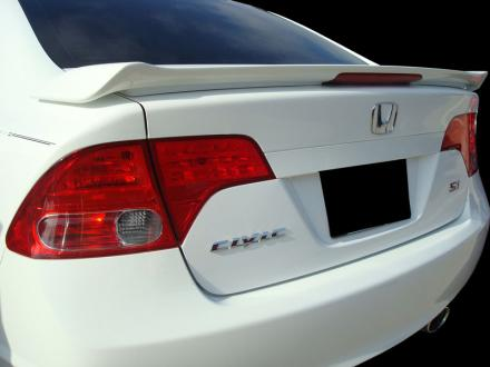 Honda Civic 4DR Si 2006-2010 Factory Style Rear Spoiler - Primed