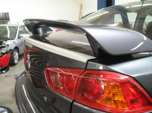 Mitsubishi Lancer   2008-2011 Lip Style Rear Spoiler - Painted