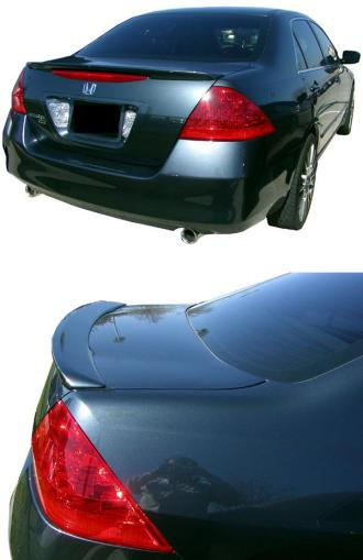 Honda Accord 4DR  2006-2007 Lip Style Rear Spoiler - Primed