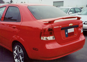 Chevrolet Aveo 4DR  2007-2010 Factory Style Rear Spoiler - Primed