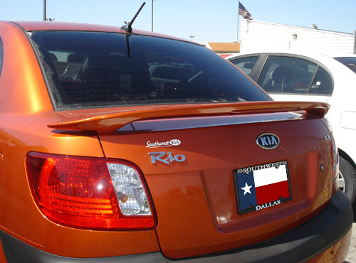 Kia Rio   2006-2010 Factory Style Rear Spoiler - Primed