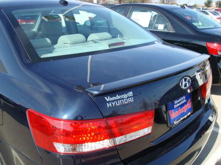 Hyundai Sonata   2006-2010 Lip Style Rear Spoiler - Painted