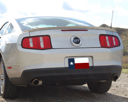Ford Mustang  Gt 2010-2011 Factory Style Rear Spoiler - Primed