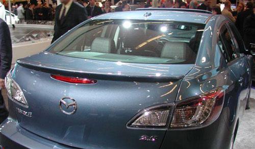 Mazda Mazda3 4DR  2010-2011 Lip Style Rear Spoiler - Primed