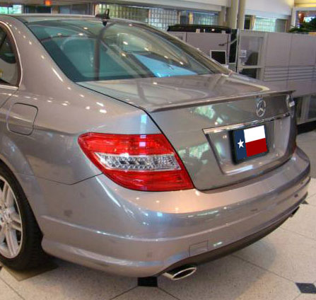 Mercedes Benz E Class  C Class 2008-2010 Lip Style Rear Spoiler - Primed