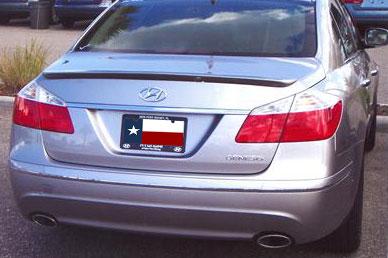 Hyundai Genesis 4DR  2009-2011 Factory Style Rear Spoiler - Primed