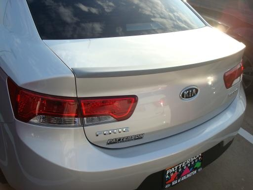 Kia Forte   2010-2011 Lip Style Rear Spoiler - Painted