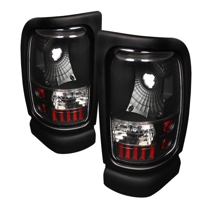 Dodge Ram 1994-2001  Black Euro Style Tail Lights