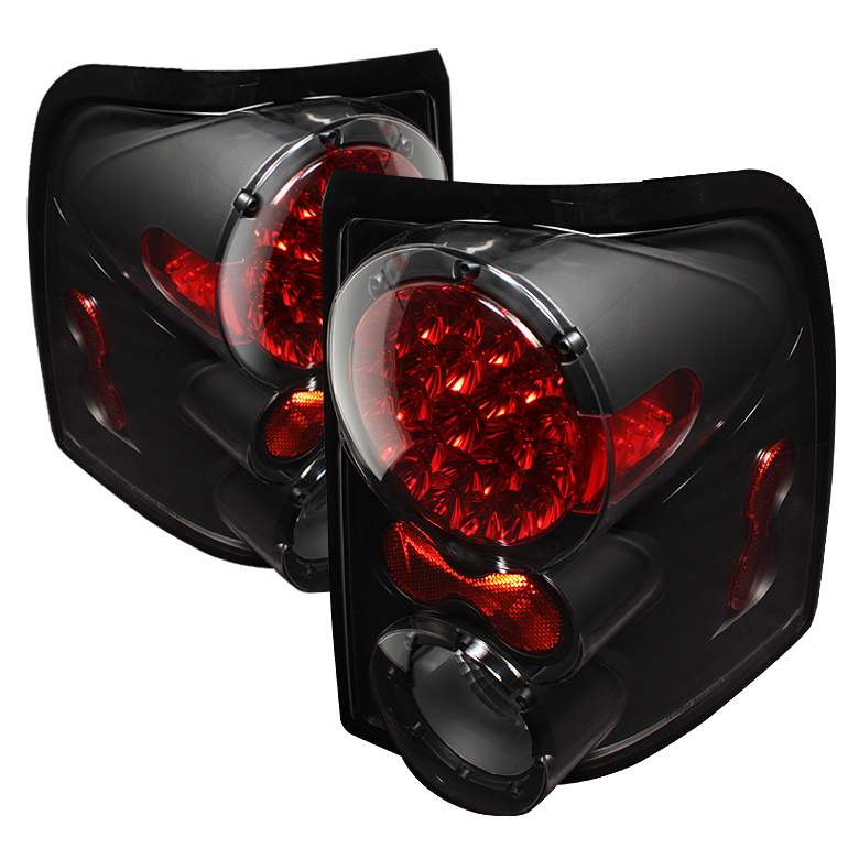 Ford Explorer 2002-2005 4dr Black LED Tail Lights