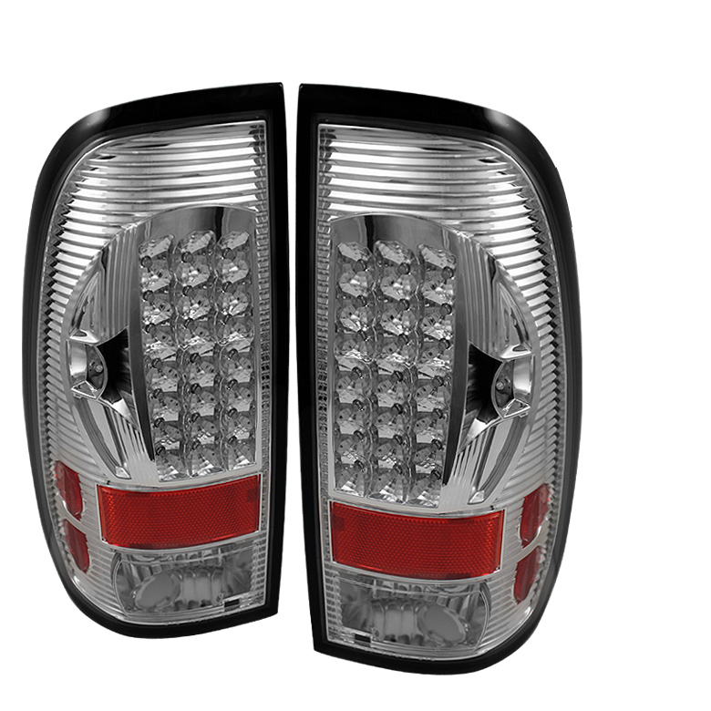 Ford Super Duty 1997-2003  Chrome LED Tail Lights