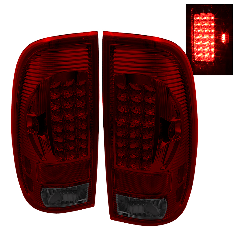 Ford F150 1997-2003  Red Smoke LED Tail Lights