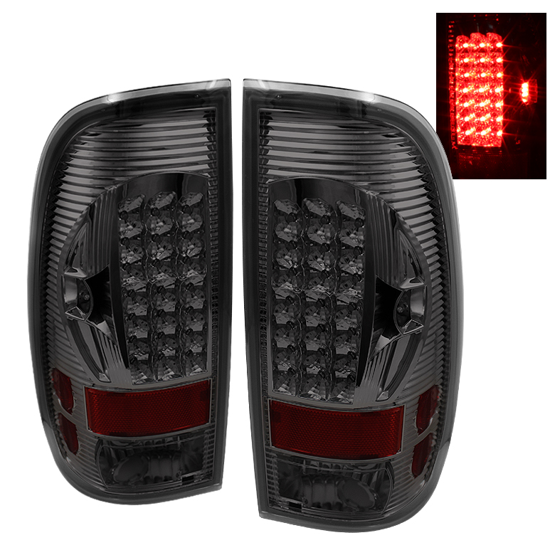 Ford Super Duty 1997-2003  Smoke LED Tail Lights