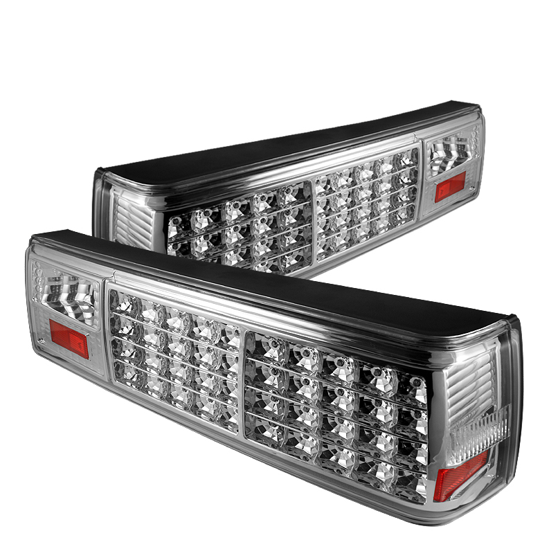 Ford Mustang 1987-1993  Chrome LED Tail Lights