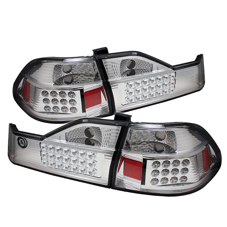 Honda Accord 1998-2000  Chrome LED Tail Lights