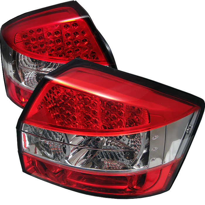 Audi A4 2002-2005  Red Clear LED Tail Lights