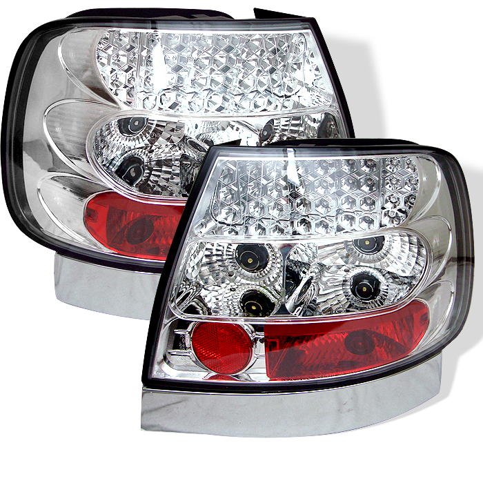 Audi A4 1996-2001  Chrome LED Tail Lights