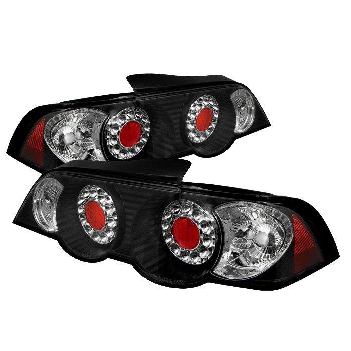 Acura Rsx 2002-2004 Black Led Tail Lights By Spyder Auto