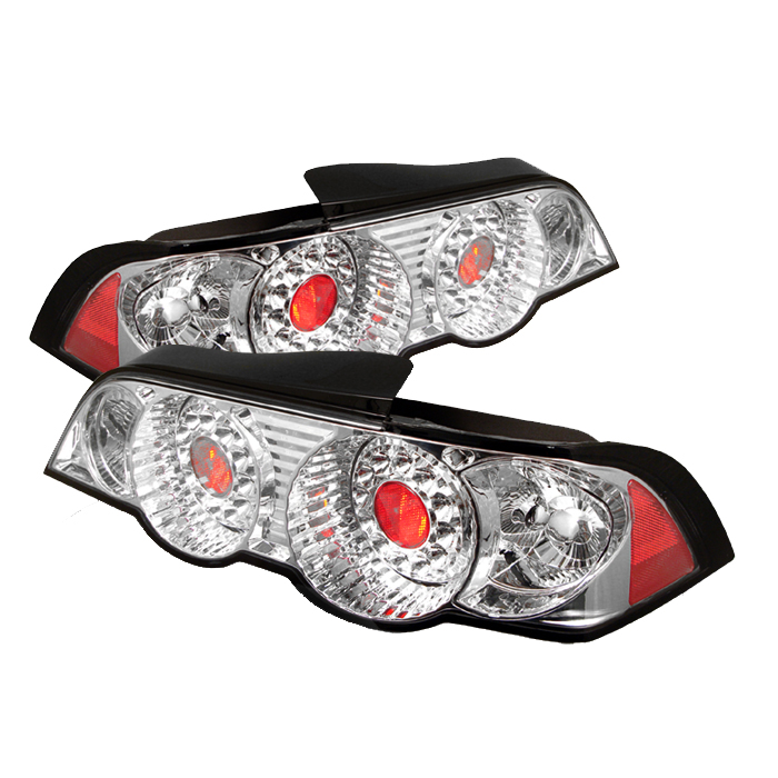 Acura RSX 2002-2004 Chrome LED Tail Lights By Spyder Auto