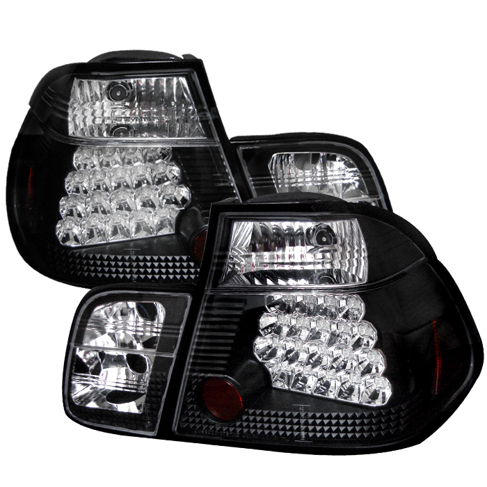 Bmw 3 Series 1999-2001 4dr Black LED Tail Lights