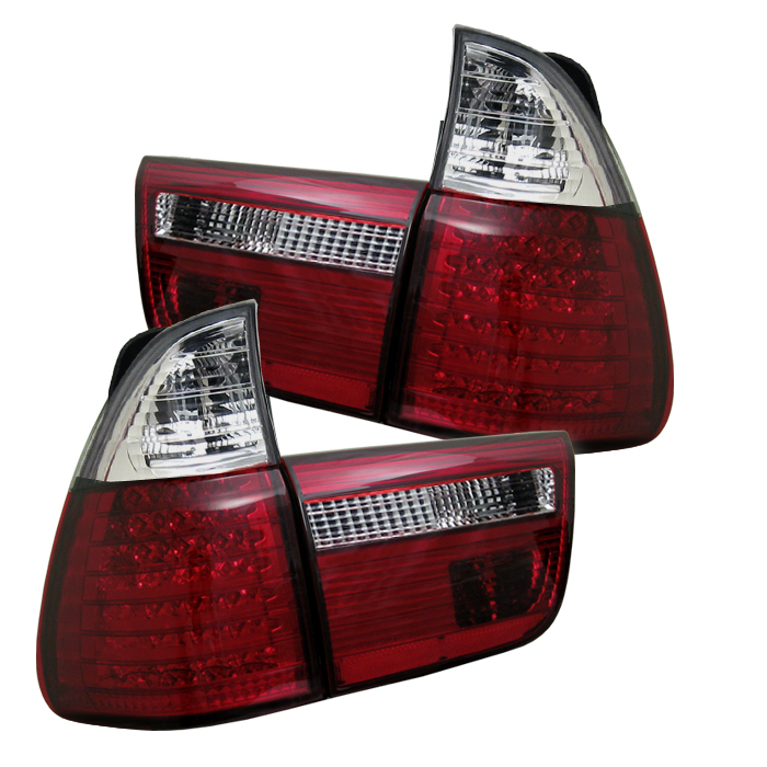 Bmw X5 2000-2005  Red Clear LED Tail Lights