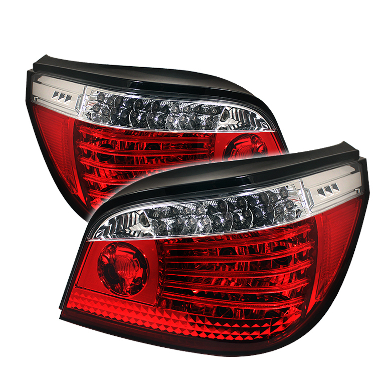 Bmw 5 Series 2004-2007  Red Clear LED Tail Lights
