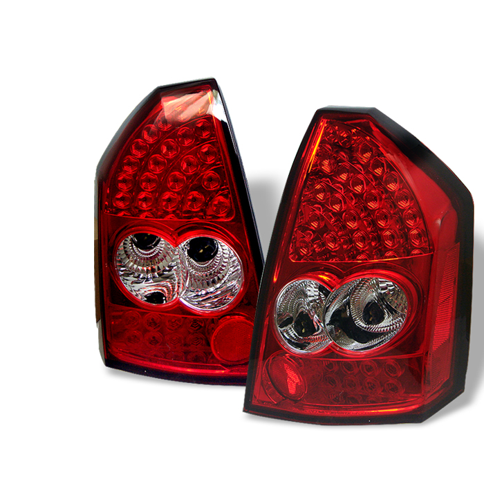 Chrysler 300C 2005-2006  Red Clear LED Tail Lights