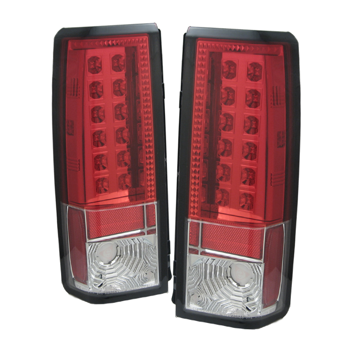Gmc Safari 1985-2004  Red Clear LED Tail Lights
