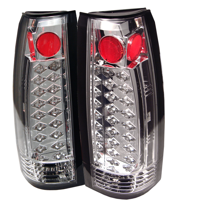 Chevrolet Full Size Pickup 1988-1998  Chrome LED Tail Lights