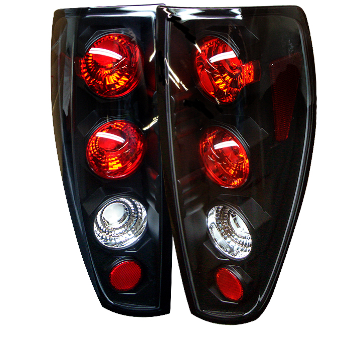 Chevrolet Colorado 2004-2006  Black Euro Style Tail Lights