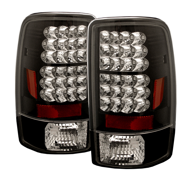 Gmc Denali 2000-2006  Black LED Tail Lights
