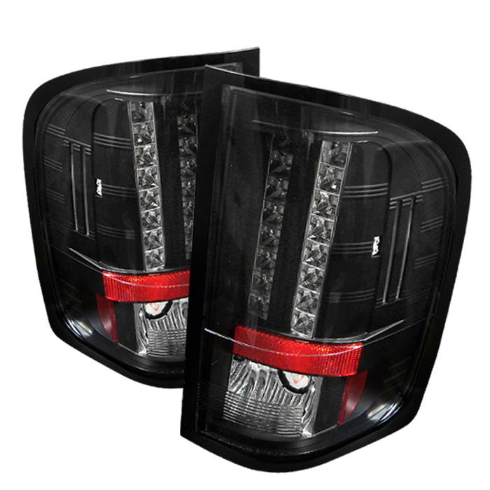 Chevrolet Silverado 2007-2008  Black LED Tail Lights