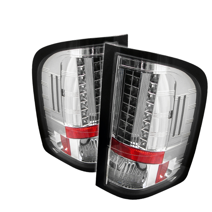 Chevrolet Silverado 2007-2008  Chrome LED Tail Lights
