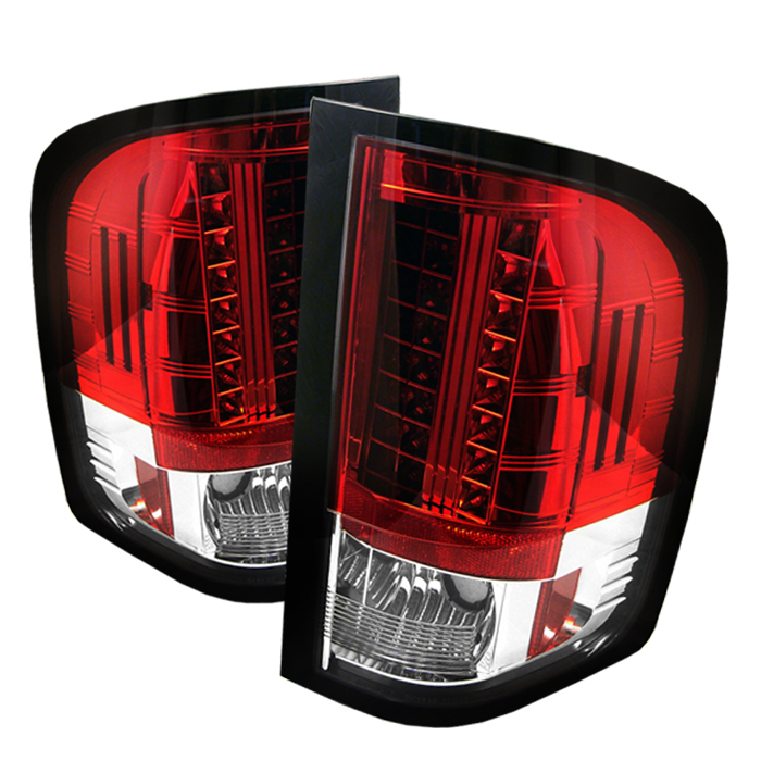 Chevrolet Silverado 2007-2008  Red Clear LED Tail Lights