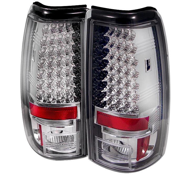 Chevrolet Silverado 1999-2002  Chrome LED Tail Lights